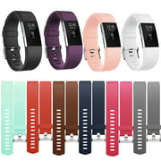 Fitbit Charge 2 Bands Replacement Sport Strap Accessories with Fasteners and Metal Clasps for Fitbit Charge 2 Wristband (Large, Black)