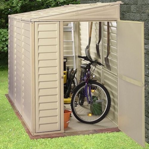 Duramax Building Products SideMate 4 ft. W x 8 ft. D Plastic Lean-To Storage Shed