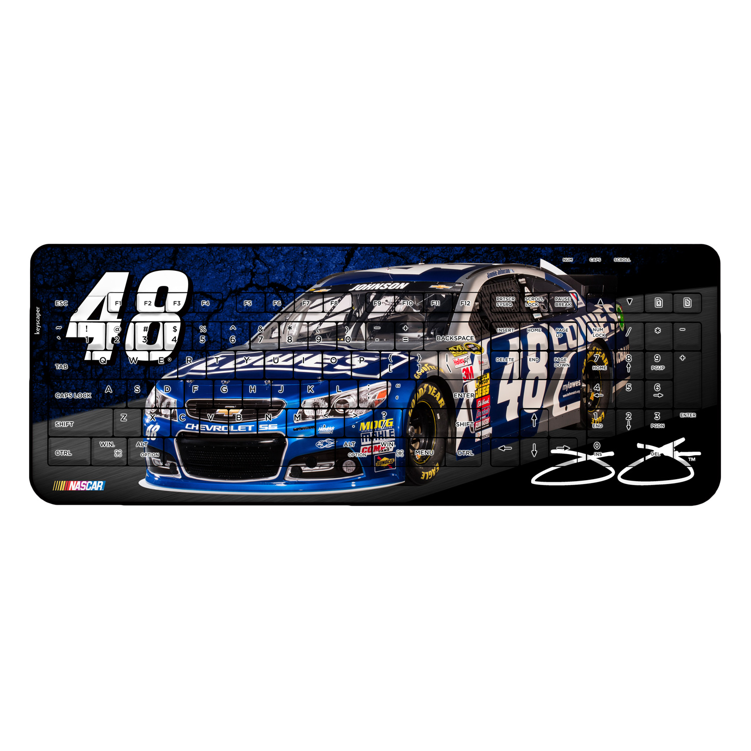 Jimmie Johnson Wireless USB Keyboard NASCAR