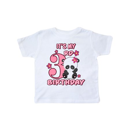 It's My Third Birthday with Panda Bear Toddler T-Shirt (Today It's My Birthday)