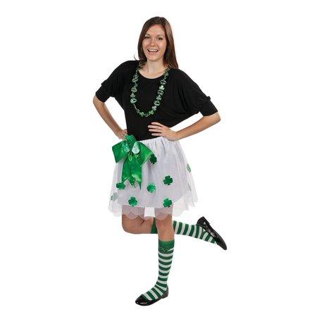 St. Patrick's Day Green Striped Socks - St Patricks Day Socks