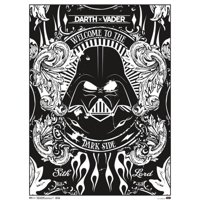 Star Wars Darth Vader Welcome To The Dark Side Coloring Poster