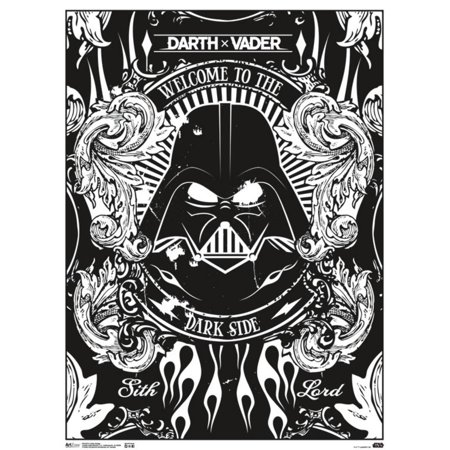 Star Wars Darth Vader Welcome to The Dark Side Badge Movie Coloring Poster - Velvet Coloring Posters