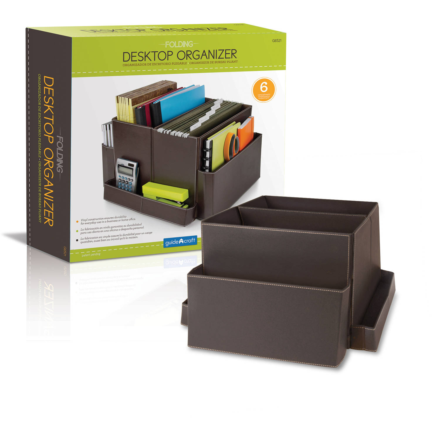 folding desk organizer brown brown