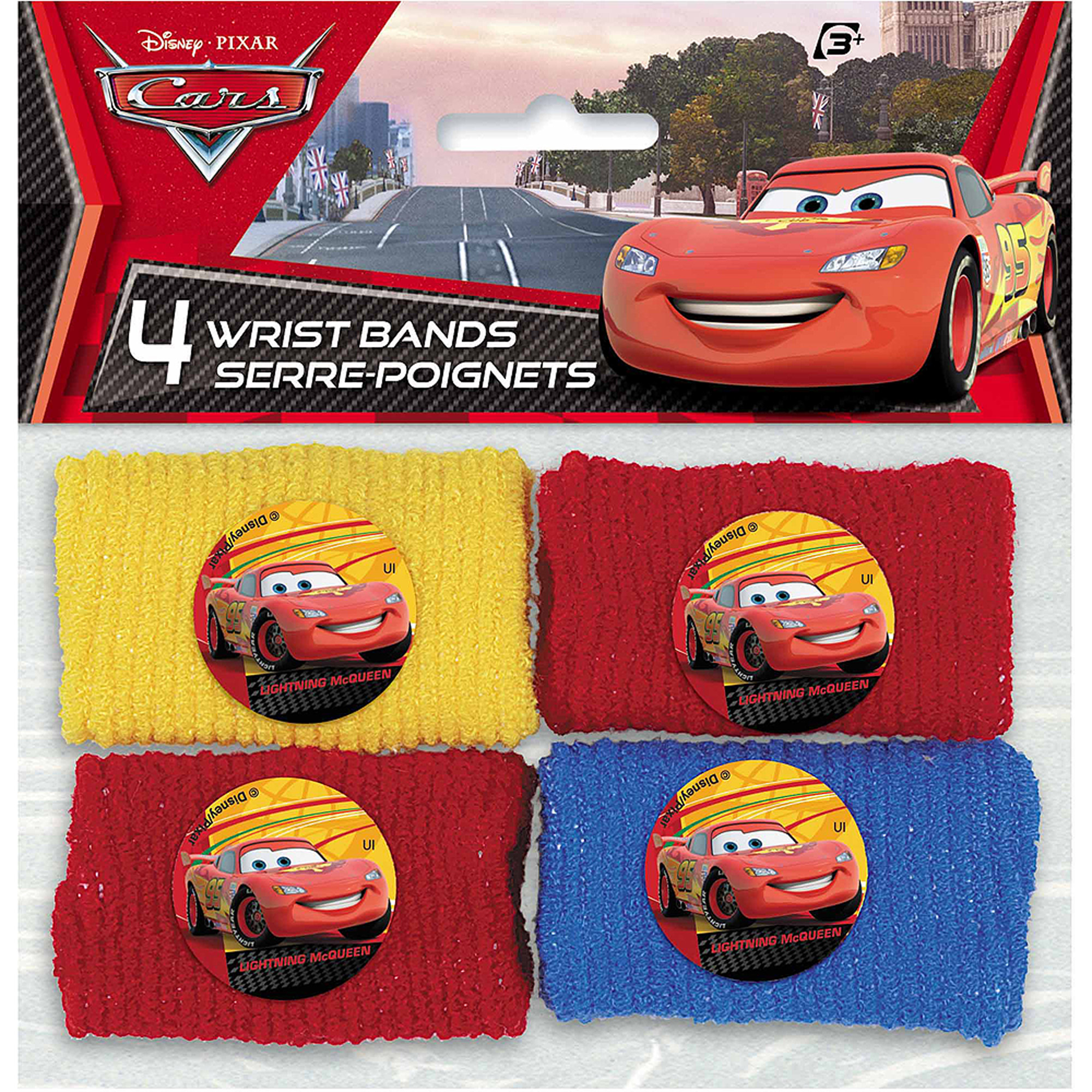 Disney Cars Wristband Party Favors, 4ct