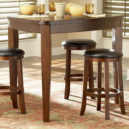 Homelegance 586-32 Ameillia Triangle Counter Height Dining Table, Dark Oak
