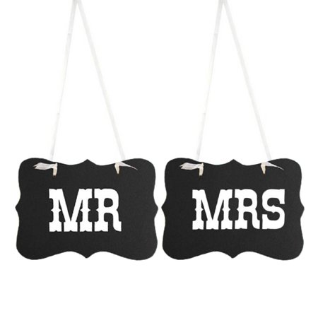 2Pcs/set Mr Mrs Bride Groom Letters Sign Banner DIY Decor Photo Prop Wedding Decoration Chair Decor](Here Comes The Bride Banner)