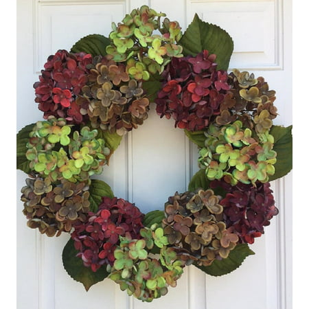 Autumn In New England Fall Hydrangea Wreath For Front Door Or Indoor