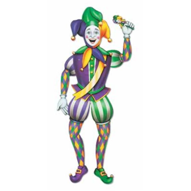 Beistle - 55369 - Jointed Mardi Gras Jester- Pack of 12