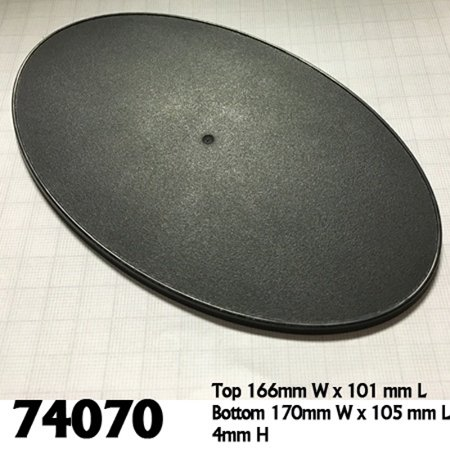 Reaper Miniatures 170mm x 105mm Oval Gaming Base (4) #74070 Accessory