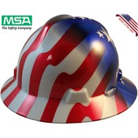 MSA Full Brim American Stars and Stripes Hard hats w/ One Touch Suspension