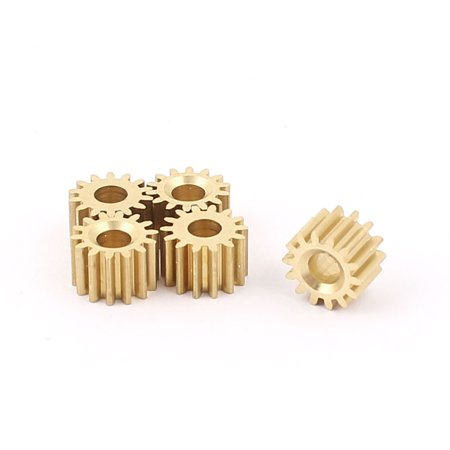 5Pcs 7.8mmx3.17mm 14 Teeth Brass Thick Motor Spindle Spur Gear for DIY -