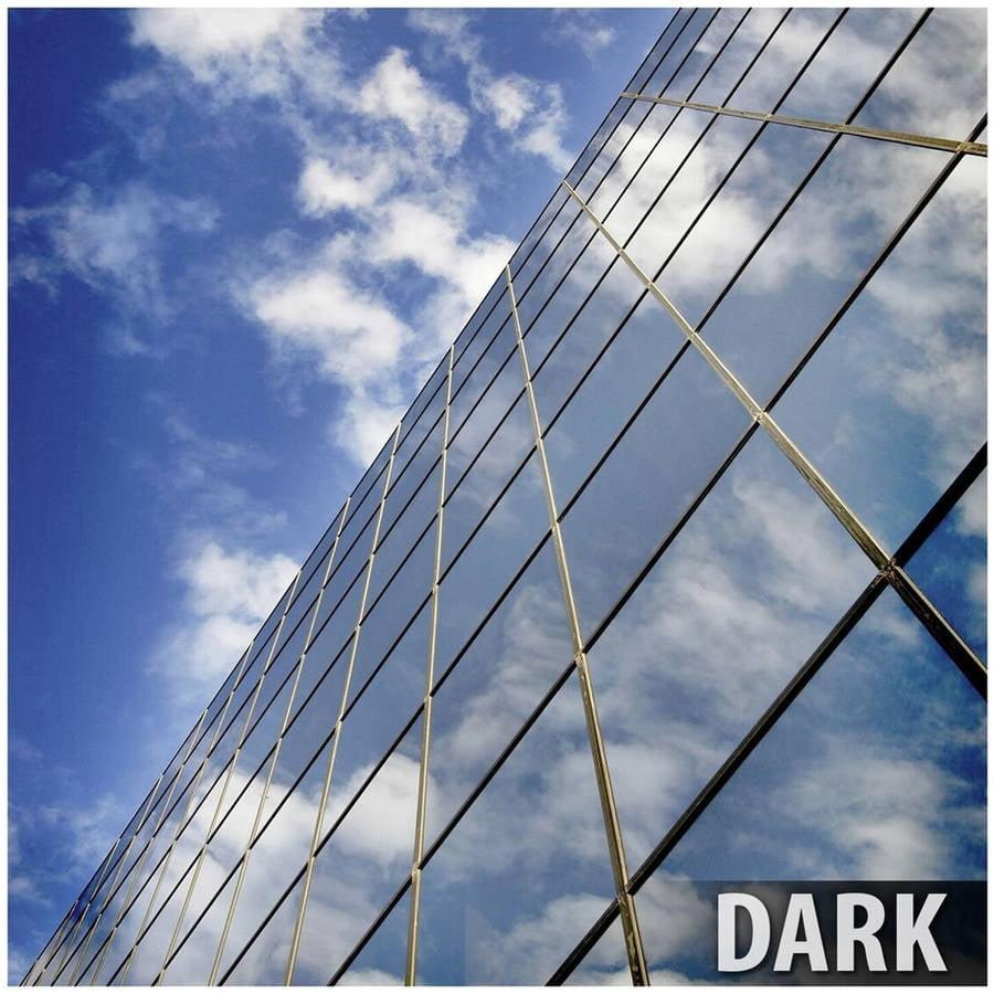 BDF RPRGY Premium One Way Mirror Privacy Silver/Grey Very Dark Window Film 24in X 25ft by BuyDecorativeFilm