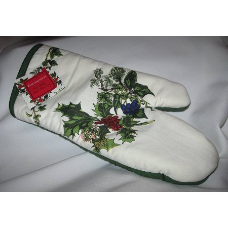 The Holly and the Ivy Oven Mitt, cotton By - Portmeirion Holly And Ivy