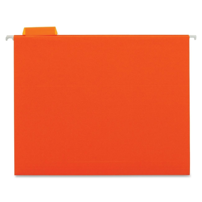 """Globe-Weis Color Hanging Folder - Letter - 8 1/2"""" x 11"""" Sheet Size - 1/5 Tab Cut - Assorted Position Tab Location - 11 p"""