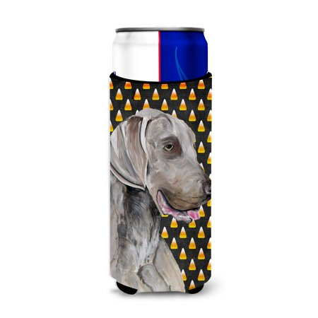 Weimaraner Candy Corn Halloween Portrait Ultra Beverage Insulators for slim cans SC9170MUK](Halloween Names For Beverages)