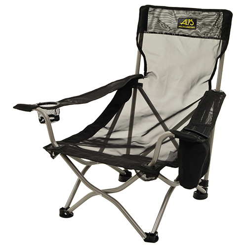 Getaway Chair Mesh, w/Cooler Pocket, Black