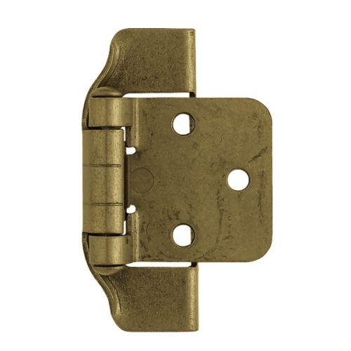 1/2 Inch Steel Stamped Semi-Wrap Overlay Hinge (Set of 2)