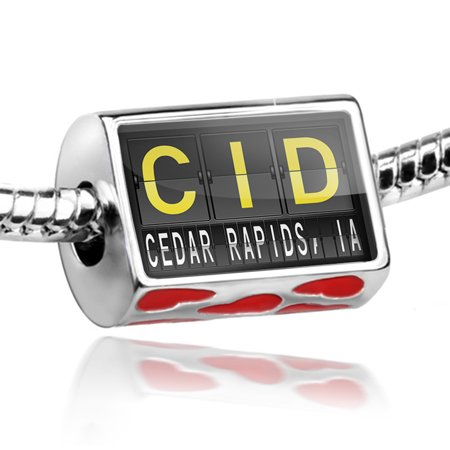 Bead CID Airport Code for Cedar Rapids, IA Charm Fits All European - Party City Cedar Rapids Ia
