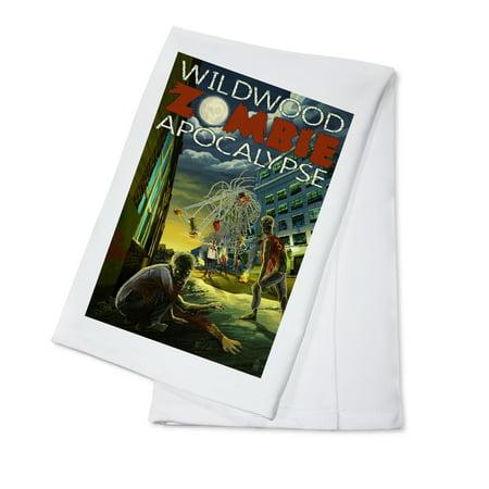 Wildwood, New Jersey - Zombie Apocalypse - Lantern Press Poster (100% Cotton Kitchen