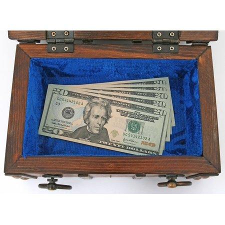 Canvas Print Business Buried Brown Box Bank Bills Billionaire Stretched Canvas 10 x 14