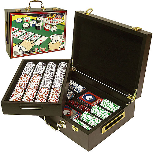 Trademark Poker 500pc 4 Aces Chips with Deluxe Case