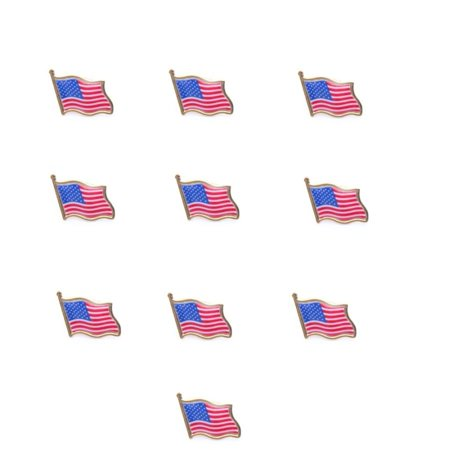 LOT OF 24 AMERICAN FLAG LAPEL PINS 0 5