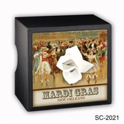 Caravelle Designs SC-2021 Mardi Gras Ball Square Tissue Boxes