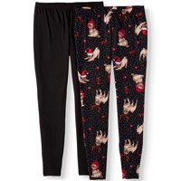 No Comment Juniors' Plus Size Sueded Holiday Leggings, 2-Pack
