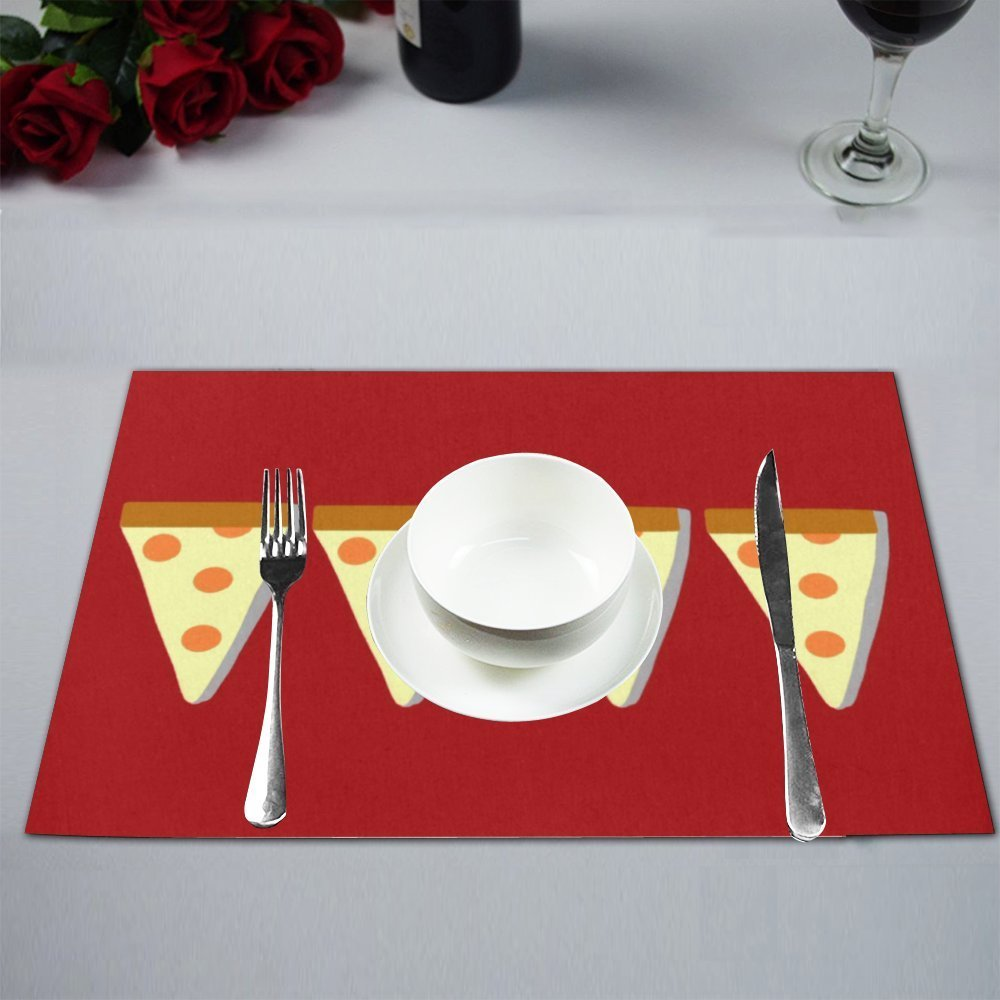 MYPOP Pizza Wallpaper Table Placemat Food Mat 12x18 Inches