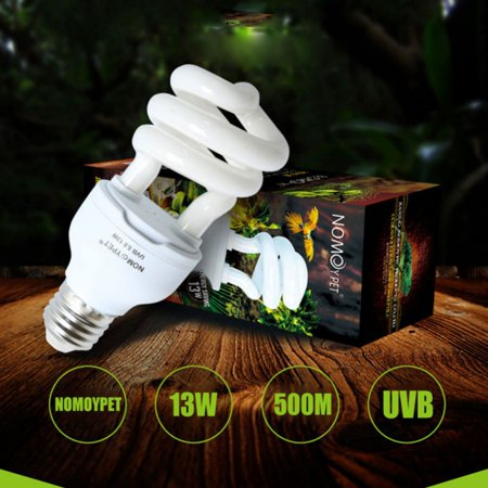 13W Reptile UVB 10.0 Compact Fluorescent Desert Terrarium Lamp For Turtle Lizard Snake Iguanas, Heat Calcium Lamp Bulb Energy Saving Light