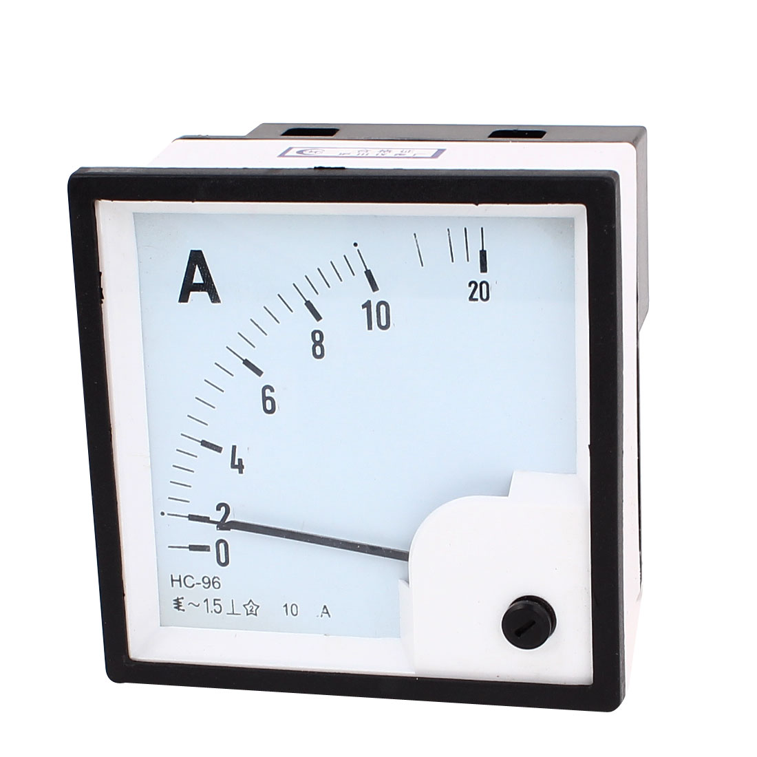 Unique Bargains Plastic Panel Mount AC 0-10A Current Ampere Meter Analogue Analog Class 1.5