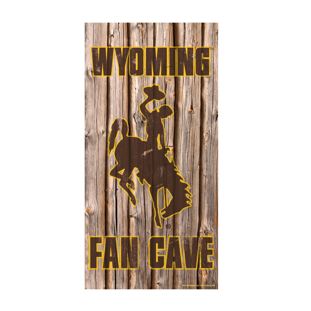 Wyoming Cowboys Official NCAA Wall Sign 6x12 wood by Wincraft 830302