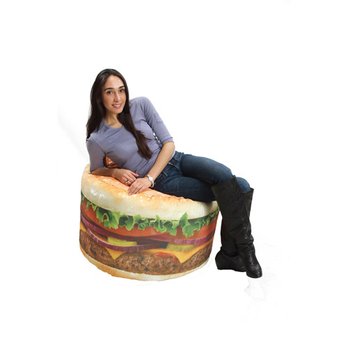 Wow Works LLC Hamburger Bean Bag Chair