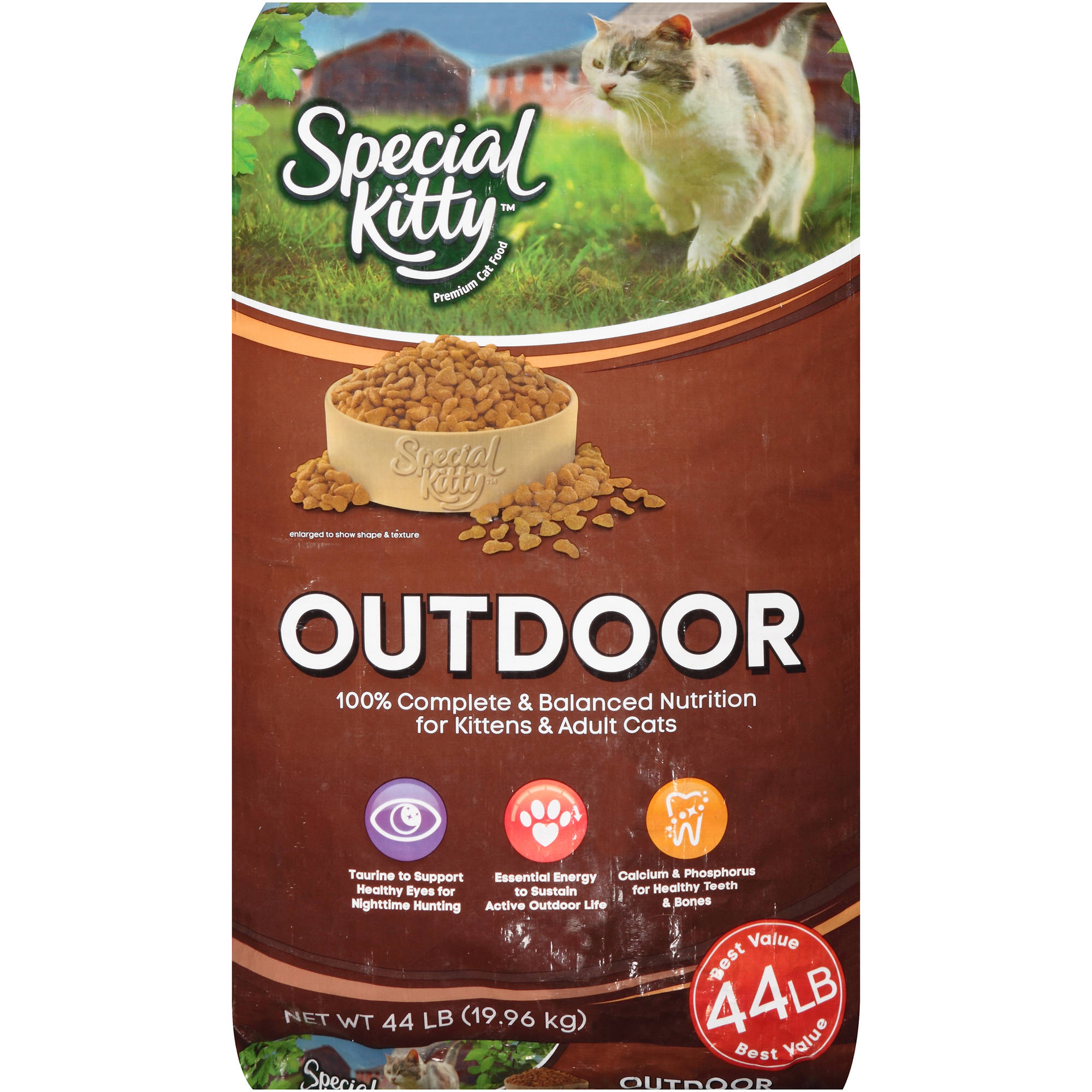 Special Kitty Outdoor Formula Dry Cat Food 44 Lb Walmart