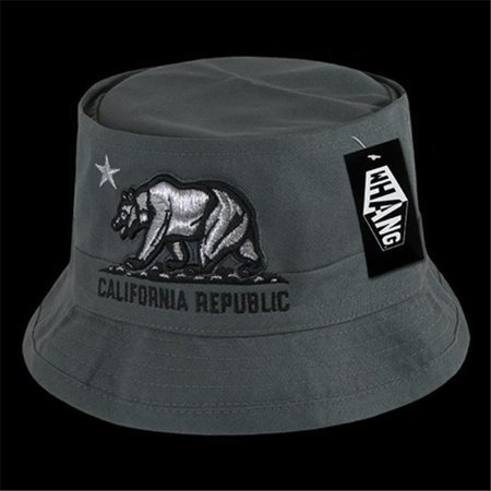 Decky W45-CRB-CHA-06 California Republic Bear Fisherman Hat, Charcoal, Small-Medium - image 1 de 1