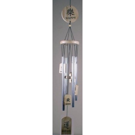 Aluminum Bronze Feng Shui Wind Chime Multi-Language (Wooden)](Wooden Chimes)