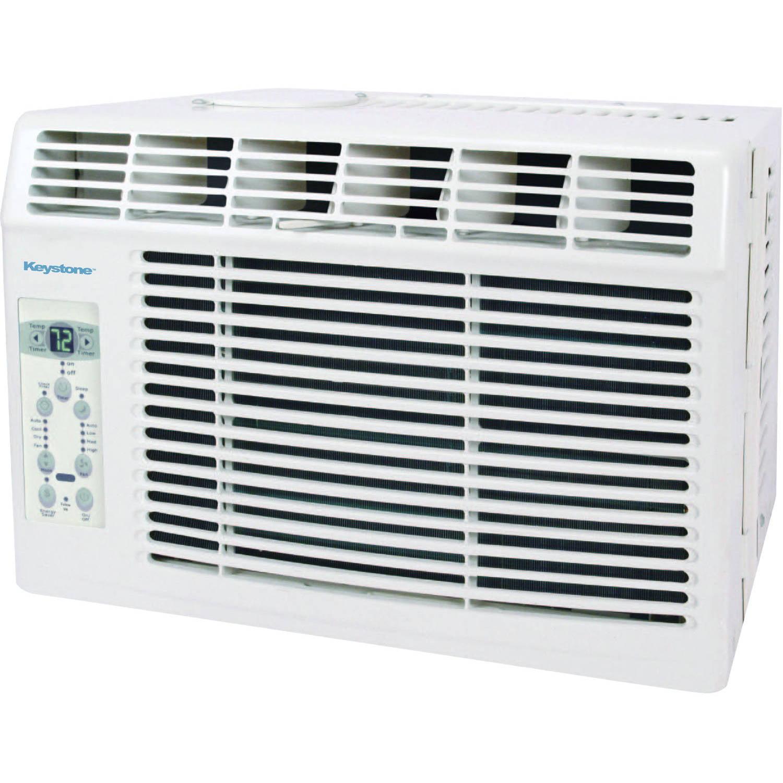 "Keystone KSTAW05B 5,000 BTU 115V Window-Mounted Air Conditioner with ""Follow Me"" LCD Remote Control"