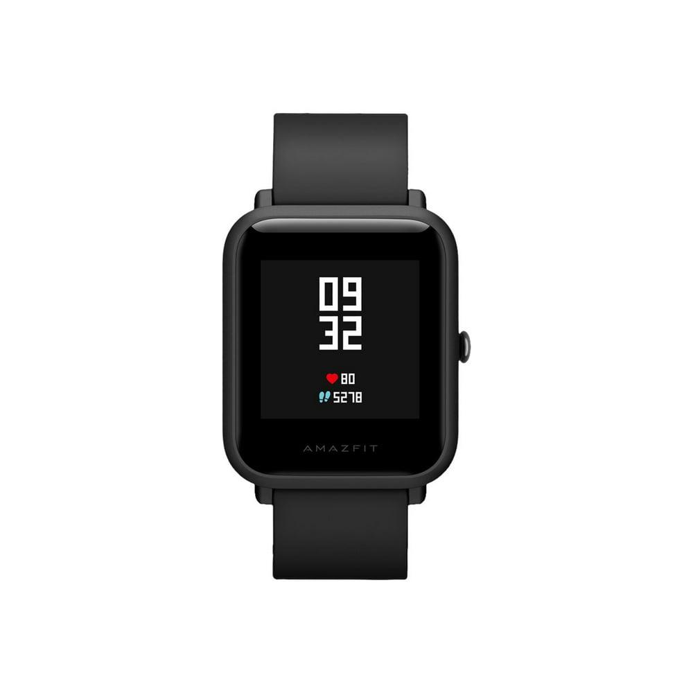 "Amazfit Bip - Onyx Black - smart watch with strap - black - display 1.28"" - Bluetooth - 1.09 oz"