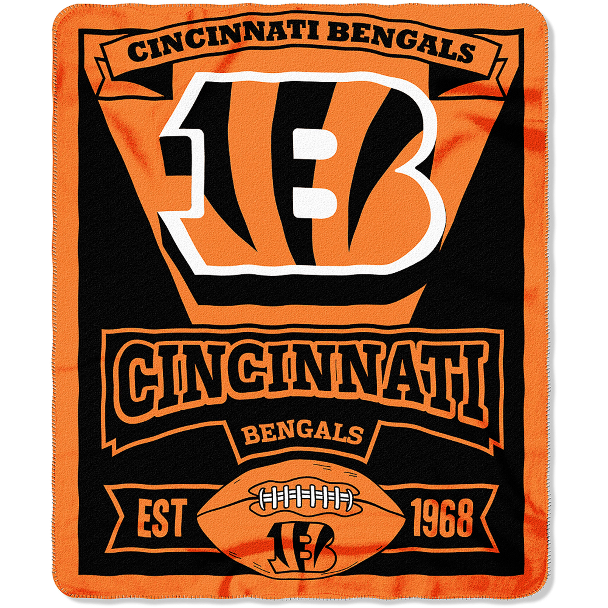"NFL Cincinnati Bengals 50"" x 60"" Fleece Throw"