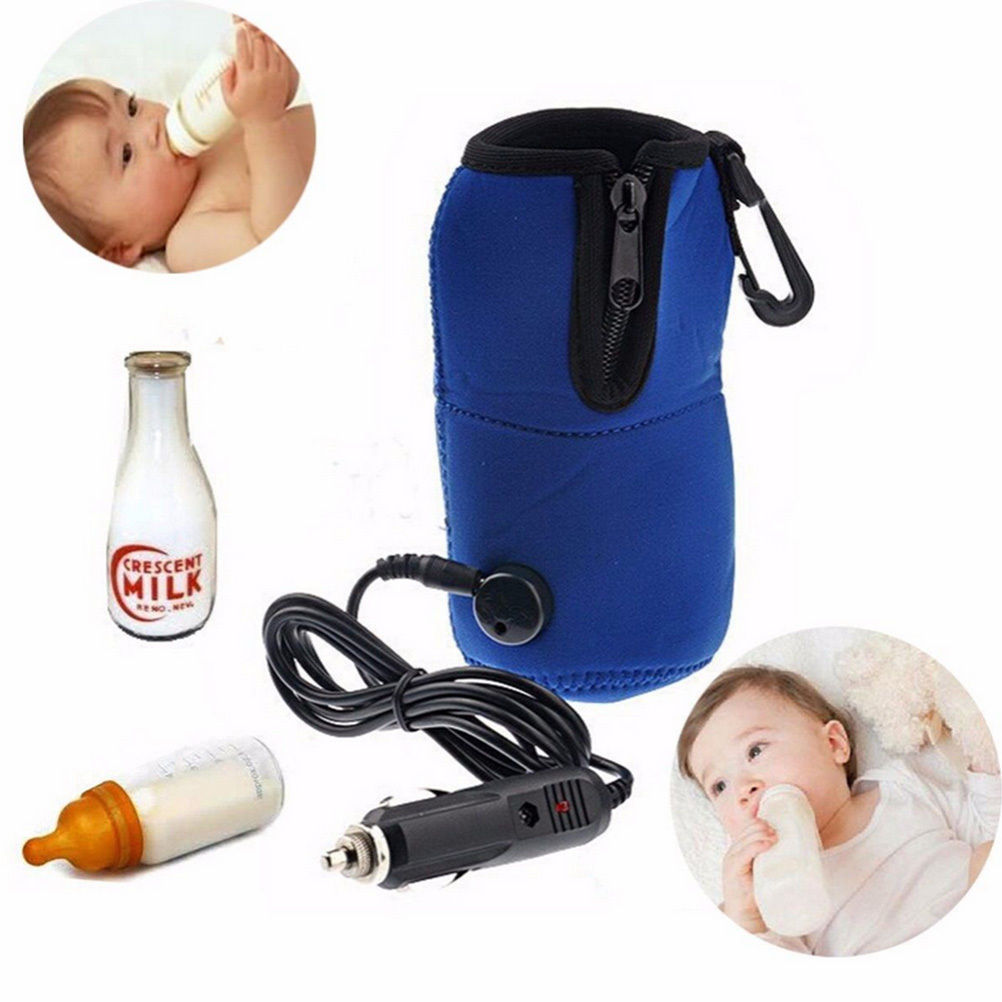 12V Food Milk Water Drink Bottle Cup Warmer Heater Car Auto Travel Baby