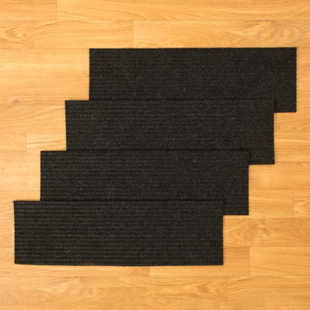 Natural Area Rugs Halton Charcoal Stair Tread (Set of 13) ()