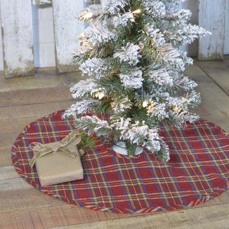 Barn Red Rustic Christmas Decor Galway Cotton Plaid 21