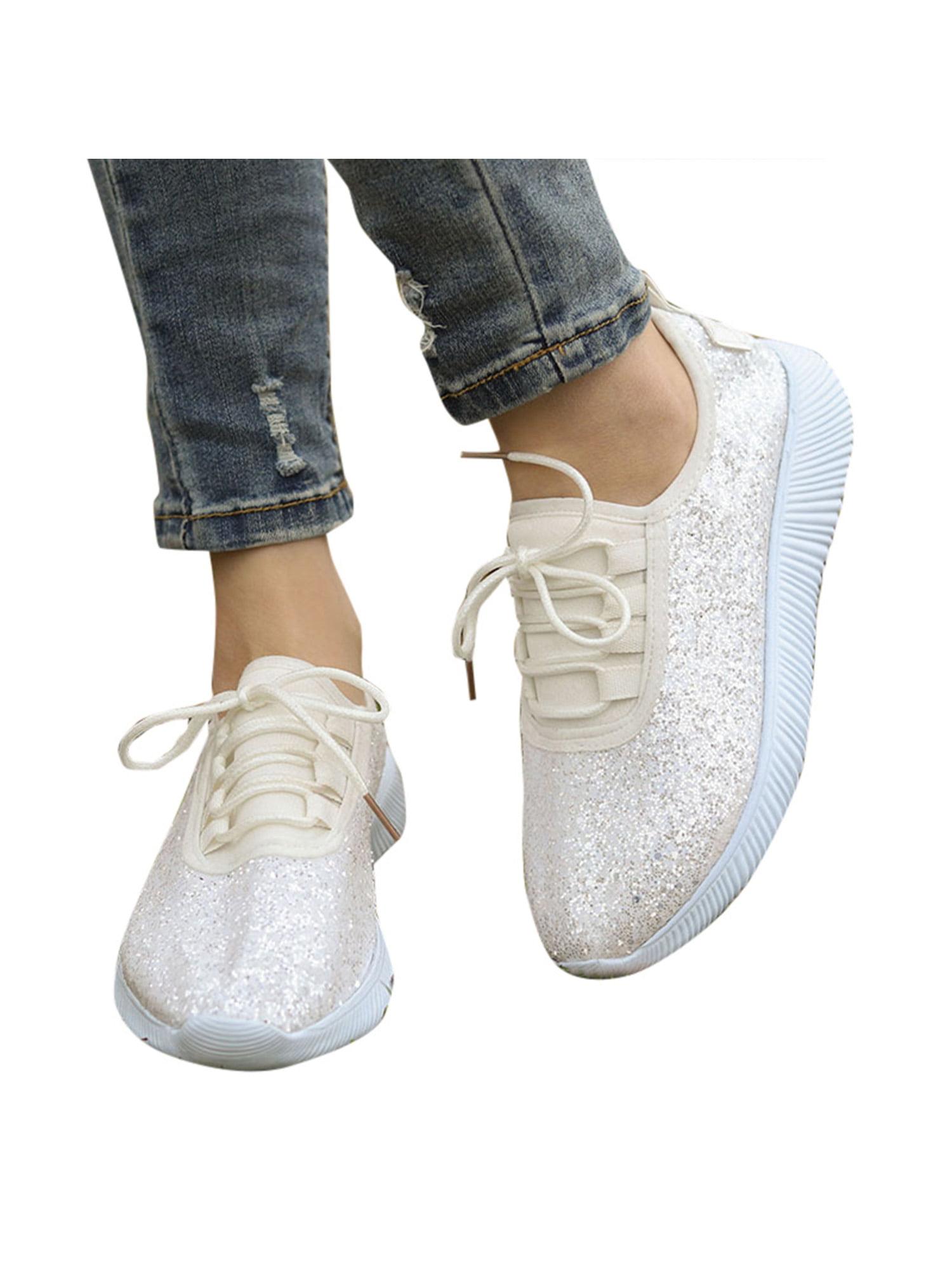 Women Sequin Glitter Sneakers Tennis