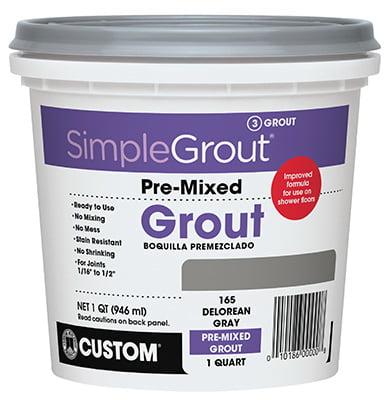 Qt. Bright White Pre-mixed Grout, Custom BLDG, PMG381QT