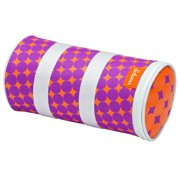 Schwinn Delmar Bicycle Handlebar Roll Bag, magenta/orange, circle design, bike bag