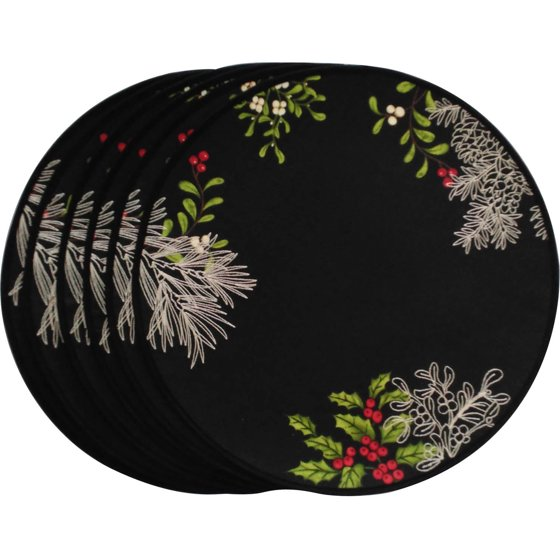 Better Homes And Gardens Black Placemat 6pk