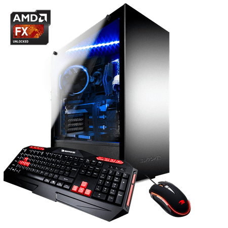 iBUYPOWER ARC031A - Gaming Desktop PC - AMD FX 6300 - 8GB DDR3 Memory - NVIDIA GeForce GT 710 1GB - 120GB SSD - Windows 10 64bit(Monitor not Included) - (Best Gaming Desktop Under 200)