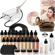 Belloccio Professional AIRBRUSH COSMETIC MAKEUP SYSTEM 16 Foundation Shades Kit