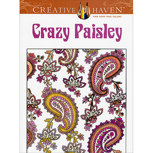 Creative Haven Crazy Paisley Adult Coloring Book